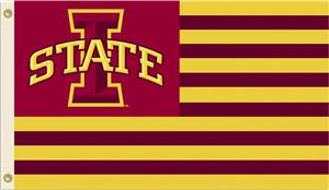 COLLEGIATE Iowa State Stripes 3' x 5' Flag