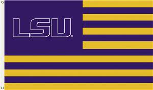 COLLEGIATE LSU Stripes 3' x 5' Flag
