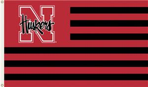 COLLEGIATE Nebraska Stripes 3' x 5' Flag