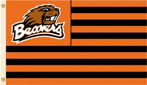COLLEGIATE Oregon State Stripes 3' x 5' Flag