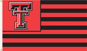 COLLEGIATE Texas Tech Stripes 3' x 5' Flag
