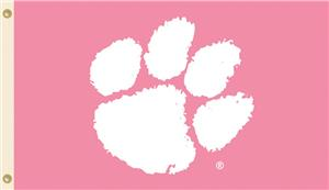 COLLEGIATE Clemson PINK 3&#39; x 5&#39; Flag