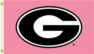 COLLEGIATE Georgia PINK 3' x 5' Flag