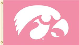 COLLEGIATE Iowa PINK 3' x 5' Flag