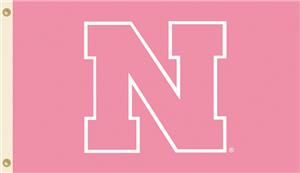 COLLEGIATE Nebraska PINK 3&#39; x 5&#39; Flag