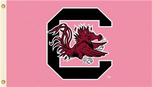 COLLEGIATE South Carolina PINK 3' x 5' Flag
