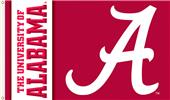 "COLLEGIATE Alabama Script ""A"" 3' x 5' Flag"