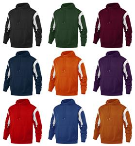 Baw Adult Color Panel Hooded Sweatshirts
