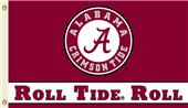 COLLEGIATE Alabama Roll Tide Roll 3' x 5' Flag