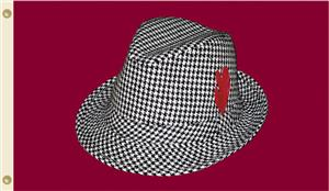 COLLEGIATE Alabama Houndstooth Hat 3' x 5' Flag