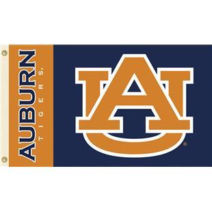 """COLLEGIATE Auburn """"AU"""" 3' x 5' Flag"""
