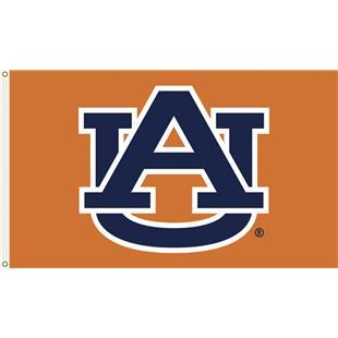 """COLLEGIATE Auburn Orange """"AU"""" Only 3' x 5' Flag"""