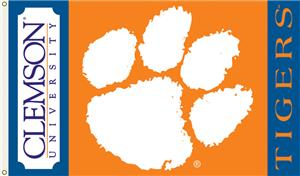 COLLEGIATE Clemson Tigers 3&#39; x 5&#39; Flag