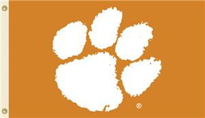 "COLLEGIATE Clemson ""Paw"" Only 3' x 5' Flag"