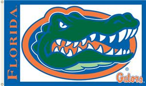 COLLEGIATE Florida Gators on White 3' x 5' Flag