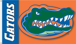 COLLEGIATE Florida Gators on Orange 3' x 5' Flag