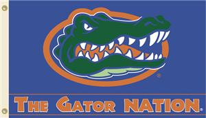 "COLLEGIATE Florida ""The Gator Nation"" 3' x 5' Flag"