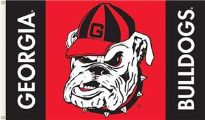 COLLEGIATE Georgia Bulldog Head 3' x 5' Flag