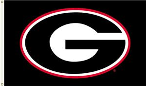 "COLLEGIATE Georgia ""G"" Black 3' x 5' Flag"