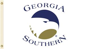 COLLEGIATE Georgia Southern on White 3' x 5' Flag
