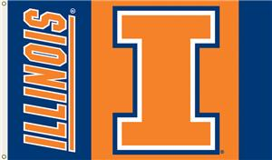 COLLEGIATE Illinois Fighting Illini 3' x 5' Flag