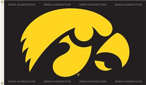 COLLEGIATE Iowa Gold Hawk 3' x 5' Flag