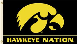 COLLEGIATE Iowa Hawkeye Nation 3&#39; x 5&#39; Flag