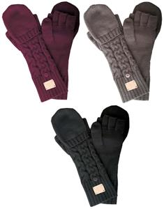 NIKE Chunky Cable Knit Gloves