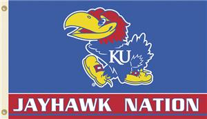 COLLEGIATE Kansas Jayhawk Nation 3&#39; x 5&#39; Flag