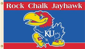 COLLEGIATE Kansas Rock Chalk 3' x 5' Flag