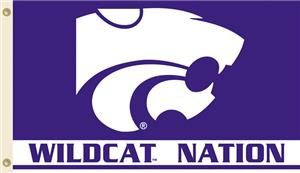 COLLEGIATE Kansas St. Wildcat Nation 3' x 5' Flag