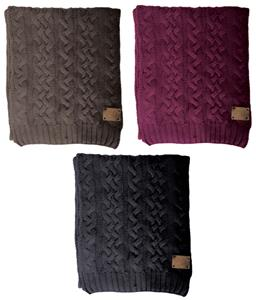 NIKE Chunky Cable Knit Scarf