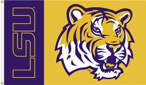 COLLEGIATE LSU Tigers - Tiger Head 3' x 5' Flag