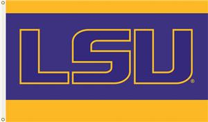 COLLEGIATE LSU Letters 3' x 5' Flag