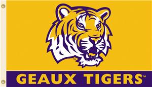 COLLEGIATE LSU Geaux Tigers 3' x 5' Flag