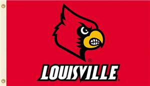 COLLEGIATE Louisville Logo Only 3&#39; x 5&#39; Flag