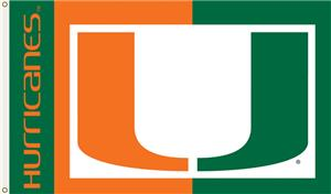 COLLEGIATE Miami Hurricanes 3' x 5' Flag