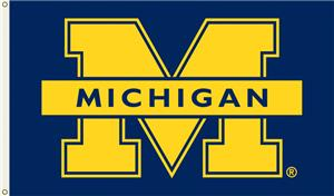 "COLLEGIATE Michigan ""M"" 3' x 5' Flag"