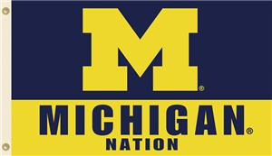 COLLEGIATE Michigan Nation 3' x 5' Flag