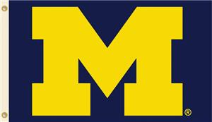 COLLEGIATE Michigan Logo Only 3' x 5' Flag