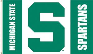 "COLLEGIATE Michigan State ""S"" 3' x 5' Flag"