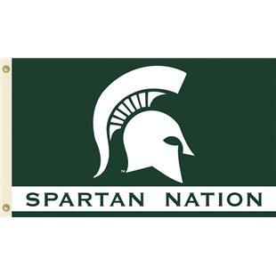 COLLEGIATE Michigan St. Spartan Nation Flag