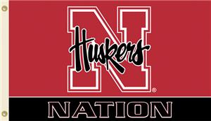 COLLEGIATE Nebraska Husker Nation 3' x 5' Flag