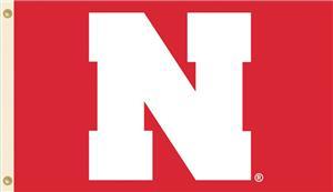 "COLLEGIATE Nebraska Red w/Block ""N"" 3' x 5' Flag"