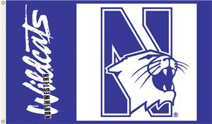 COLLEGIATE Northwestern Wildcats 3&#39; x 5&#39; Flag