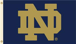 COLLEGIATE Notre Dame Logo Only 3' x 5' Flag