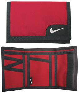 NIKE Tri-Fold Bank Wallet Red