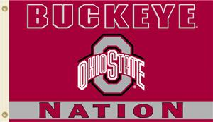 COLLEGIATE Ohio State Buckeye Nation 3' x 5' Flag