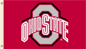 COLLEGIATE Ohio State Logo Only 3&#39; x 5&#39; Flag