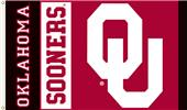 COLLEGIATE Oklahoma Sooners w/Black 3' x 5' Flag